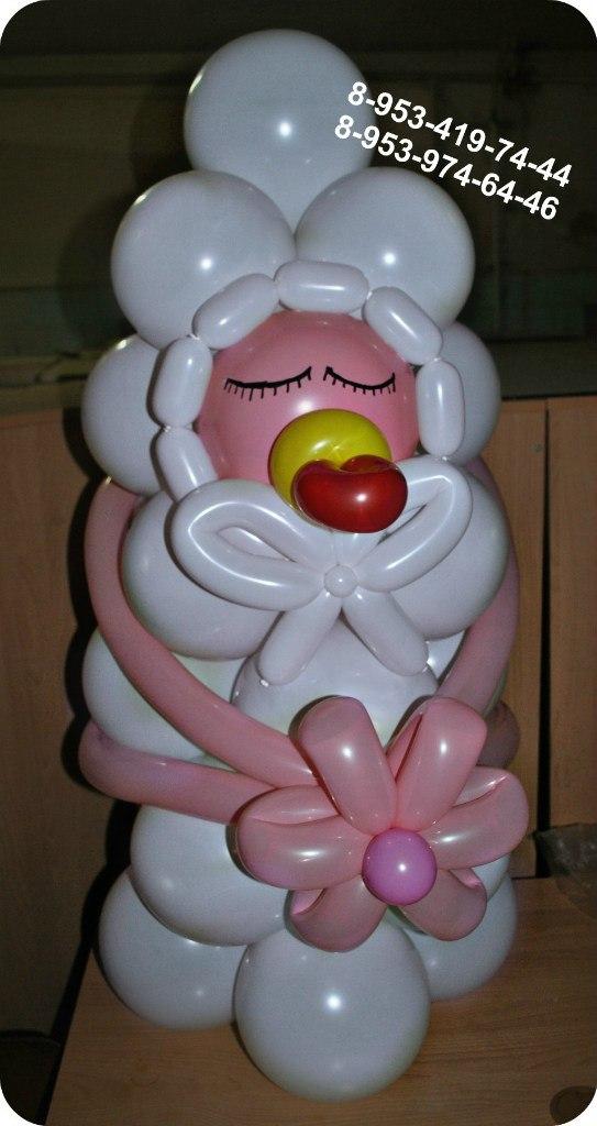 Открытки из шаров с рождением